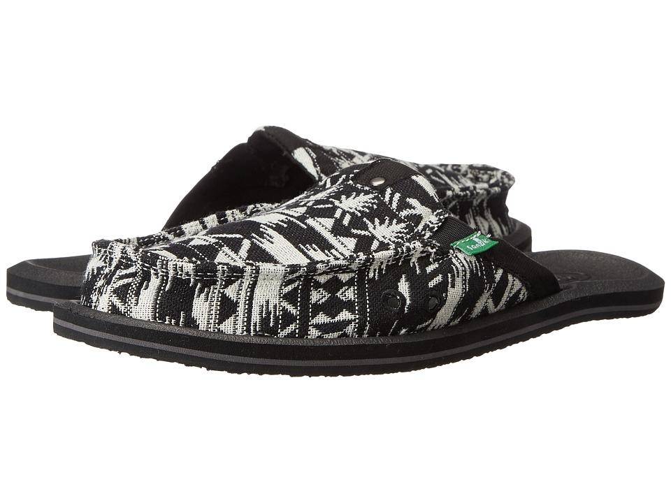 Sanuk Getaway 2 Black/White Womens Slip on Shoes