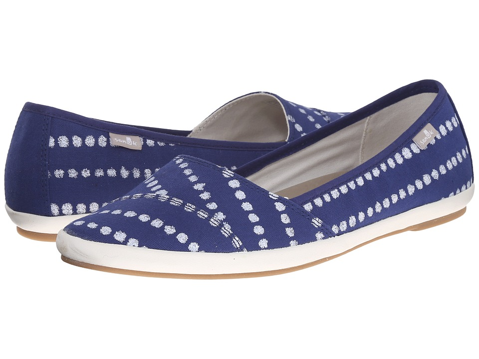 Sanuk - Kat Prowl Prints (Indigo/White Dots) Women