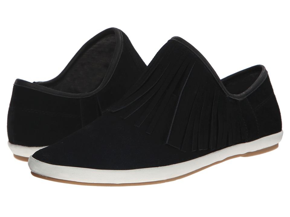 Sanuk Kat Fringe Black Womens Slip on Shoes