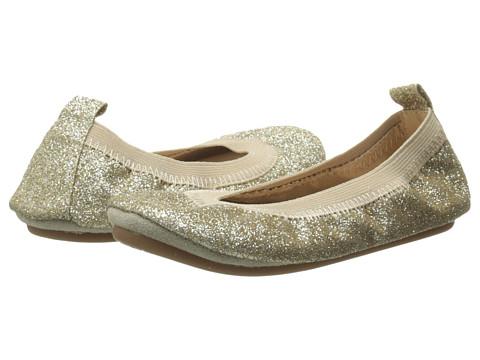 Yosi Samra Kids Sammie Super Soft Ballet Flat (Toddler) - Gold Glitter