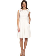 Adrianna Papell - Open Lace Inset Cotton Fit & Flare Dress