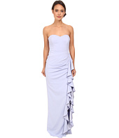 Badgley Mischka - Strapless Side Ruffle Gown