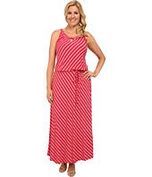 Calvin Klein Plus - Plus Size Stripe Keyhole Maxi Dress