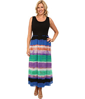 Calvin Klein Plus - Plus Size Maxi Dress w/ Print Chiffon Bottom