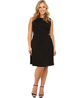 Calvin Klein Plus - Plus Size Fit & Flare Dress w/ Buckle