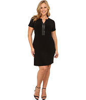 Calvin Klein Plus - Plus Size V-Neck Chain Dress