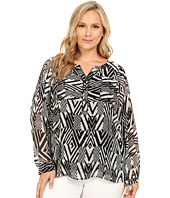 Calvin Klein Plus - Plus Size Long Sleeve Peasant Blouse