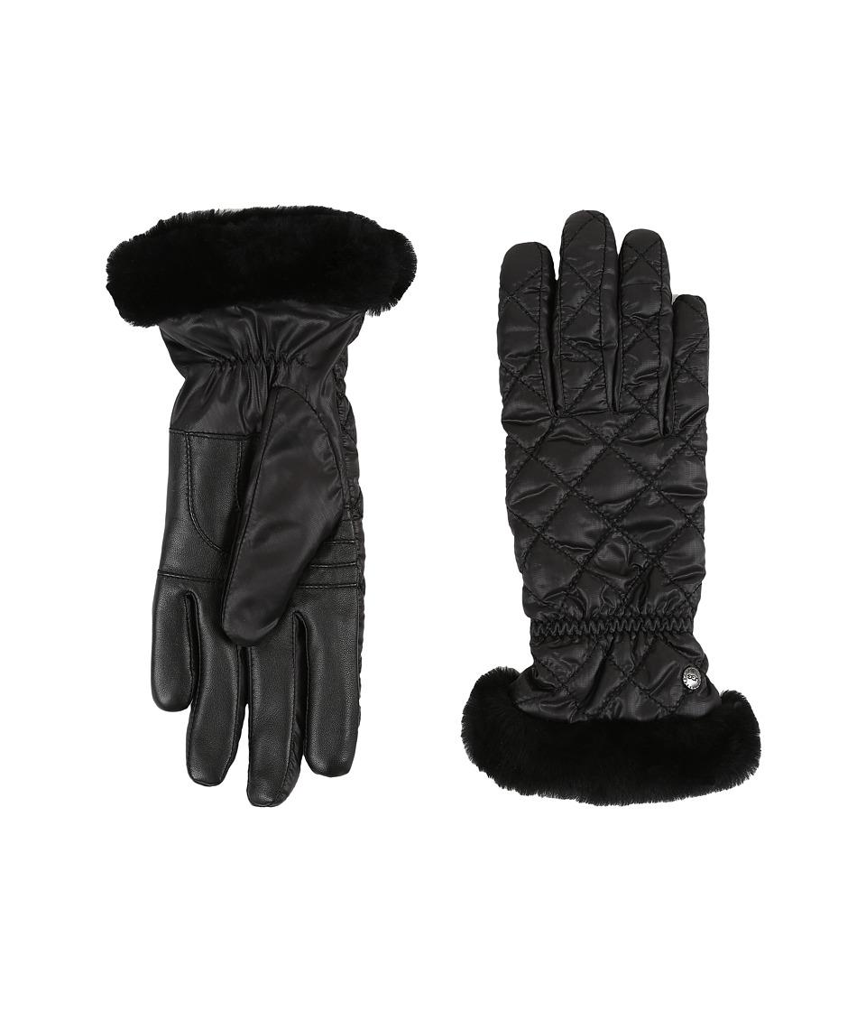 ugg quilted fontanne glove black