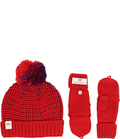 UGG Kids - Cardy Block Hat and Flip Mitten Set