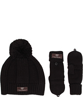 UGG Kids - Mclain Ribbed Beanie and Flip Mitten Set