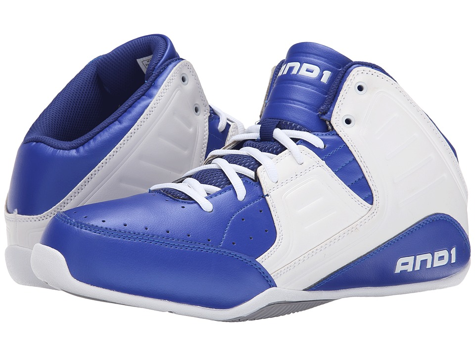 AND1 Rocket 4 Surf the Web/White/Silver Mens Basketball Shoes