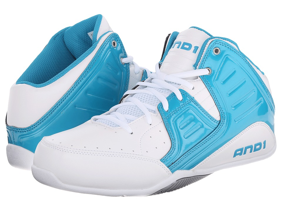 AND1 Rocket 4 Capri Breeze/White/Silver Mens Basketball Shoes
