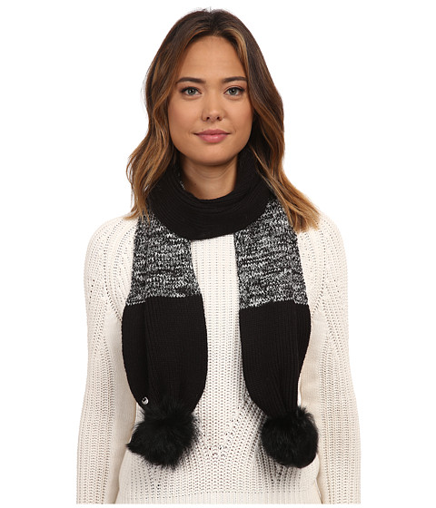 UGG Classic Marled Scarf w/ Sequins and Fur Pom