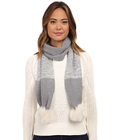 UGG - Classic Marled Scarf w/ Sequins and Fur Pom