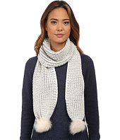 UGG - Reversible Cardy Scarf w/ Fur Poms