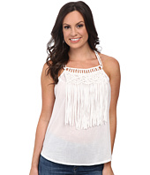 Cruel - Woven Tank Top Macrame and Fringe
