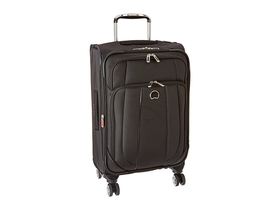 Delsey Helium Cruise Carry-On Expandable Spinner Trolley (Black) Carry on Luggage