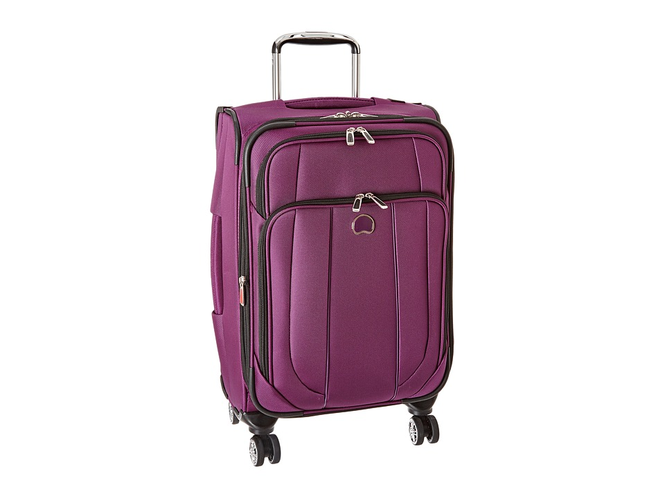 Delsey - Helium Cruise Carry-On Expandable Spinner Trolley (Purple) Carry on Luggage