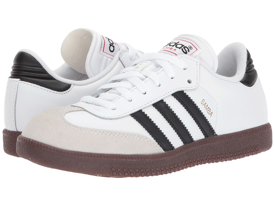 adidas Kids Samba Classic Core (Toddler/Little Kid/Big Kid) (Running White/Black) Kids Shoes