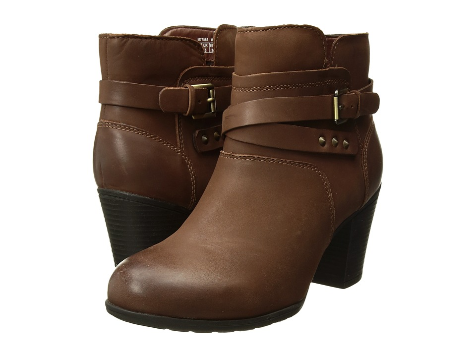 Rockport City Casuals Catriona Buckle Bootie (Nutella Nubuck) Women