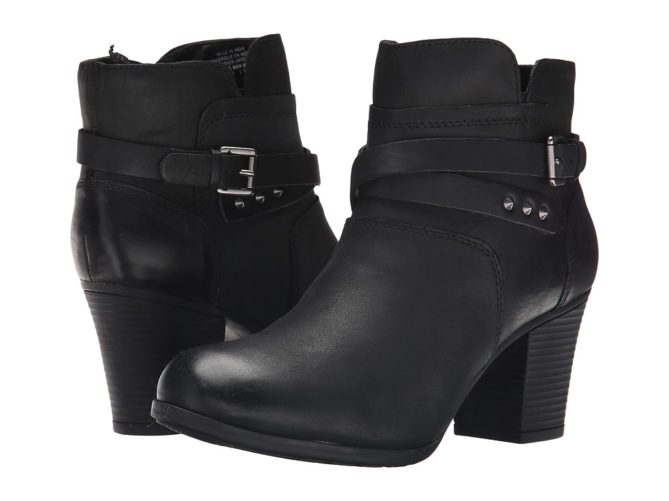 Rockport City Casuals Catriona Buckle Bootie (Black Nubuc...