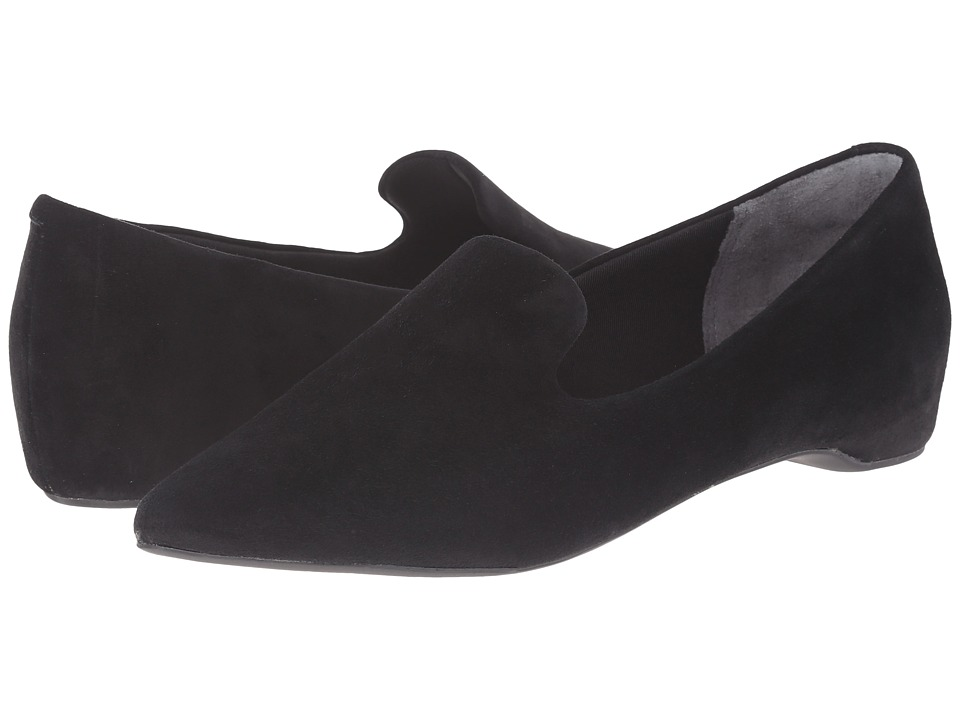 Rockport Total Motion 30mm Hidden Wedge Smoking Loafer Black Kid Suede Womens Wedge Shoes