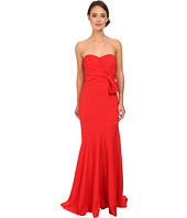 Badgley Mischka - Strapless Stretch Crepe Gown