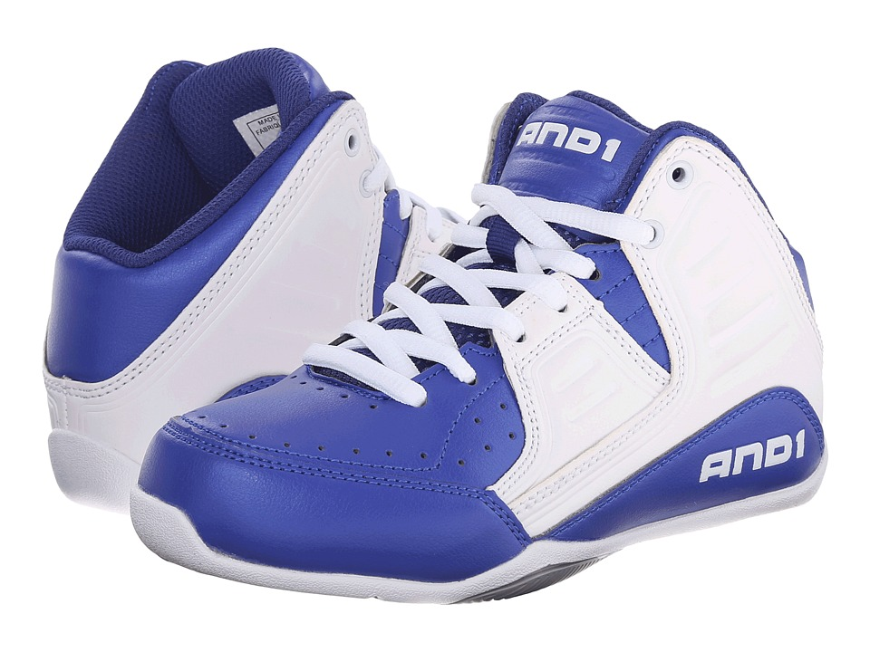 AND1 Kids Rocket 4 Little Kid/Big Kid Surf the Web/White/Silver Boys Shoes