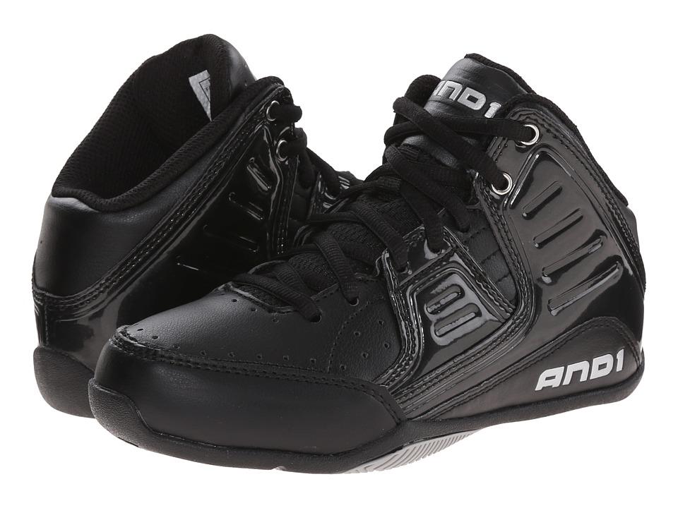 AND1 Kids Rocket 4 Little Kid/Big Kid Black/Black/Silver Boys Shoes
