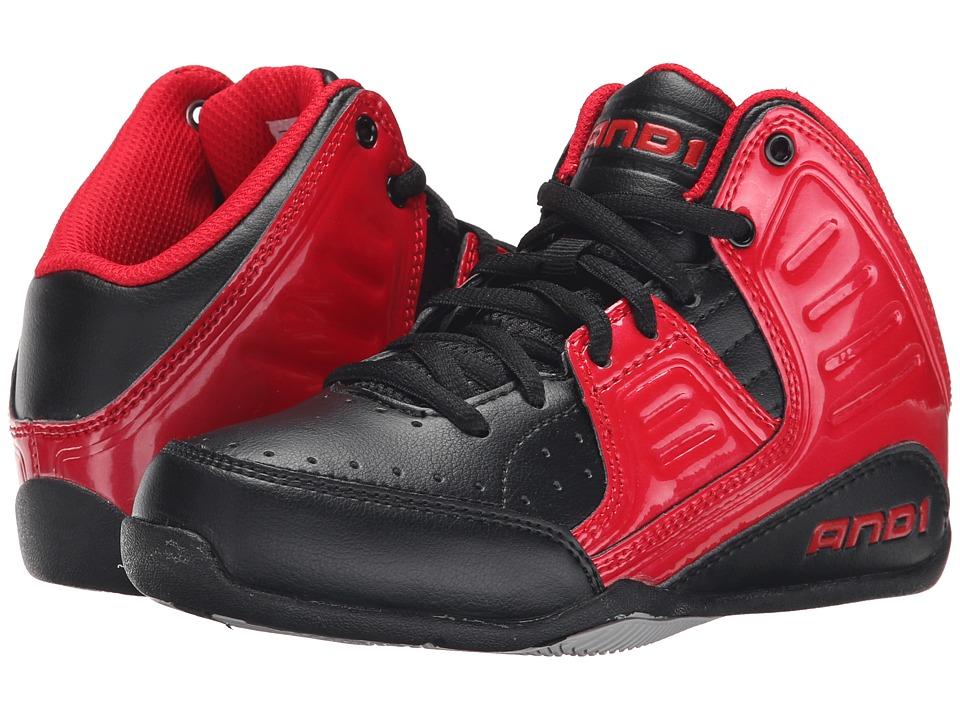 AND1 Kids Rocket 4 Little Kid/Big Kid Formula 1 Red/Black/Silver Boys Shoes
