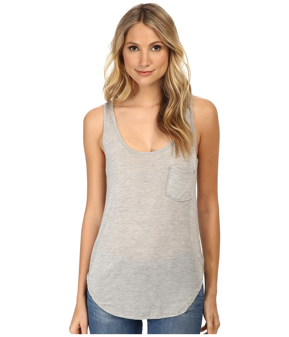 LAmade Boyfriend Tank w/ Pocket Heather Grey Womens Sleeveless