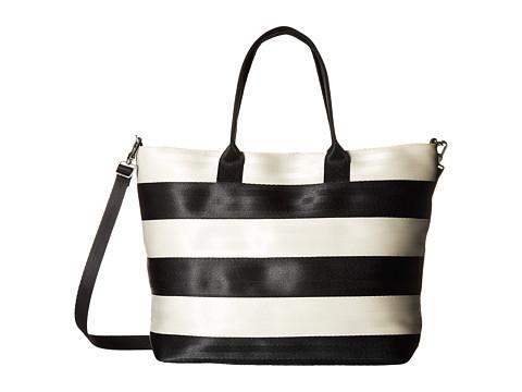 Harveys Seatbelt Bag Streamline Tote - Salvage Black/White