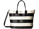 Harveys Seatbelt Bag Streamline Tote (Salvage Black/White)