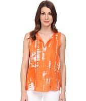 Calvin Klein - Sleeveless Linen Print w/ Woven Back