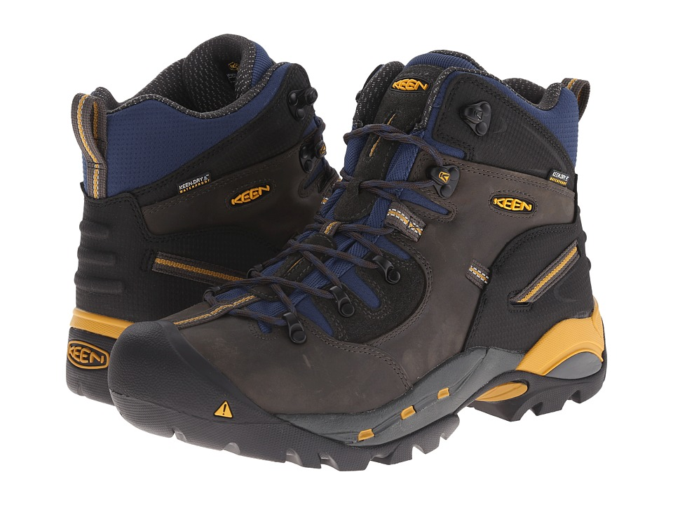 Keen Utility Pittsburgh Boot (Raven/Yellow) Men