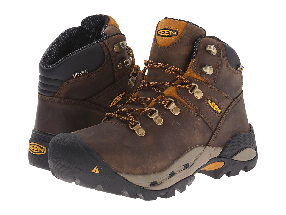 Keen Utility Cleveland Cascade Brown/Inca Gold Mens Work Lace up Boots