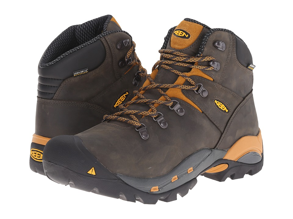 Keen Utility Cleveland Soft Toe Raven/Inca Gold Mens Work Lace up Boots