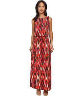 Calvin Klein - Print Maxi Dress w/ Tie