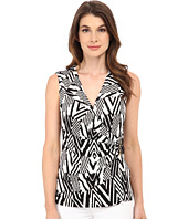 Calvin Klein - Sleeveless Print Wrap Top w/ Buckle