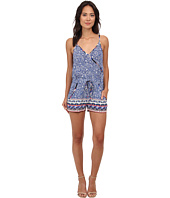 French Connection - Bali Batik Drape Romper