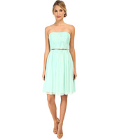 Donna Morgan - Donna Strapless Chiffon Dress w/ Belt