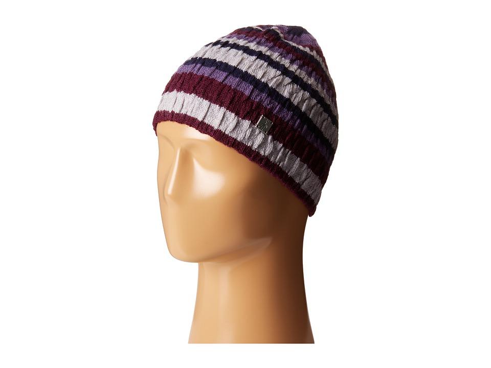 Smartwool Striped Chevron Hat Aubergine Heather Cold Weather Hats