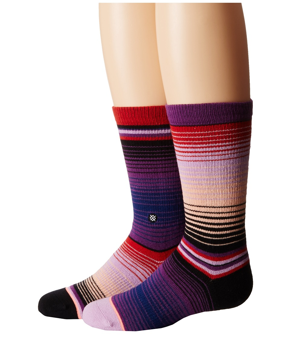 Stance Amiga Little Kids/Big Kids Purple Womens Crew Cut Socks Shoes