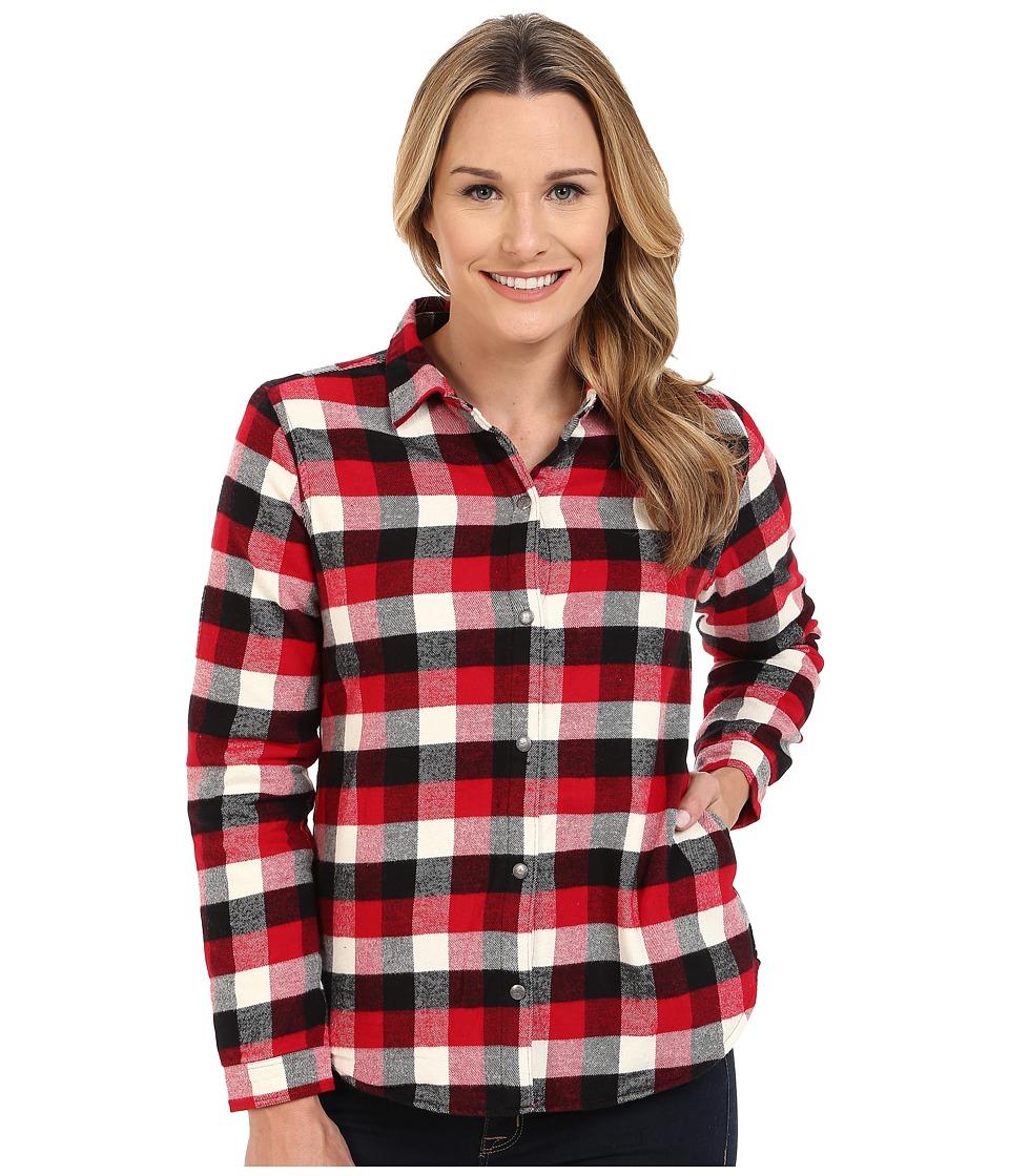 Woolrich - Pemberton Fleece-lined Flannel Shirt Jacket (Old Red Buffalo) Women