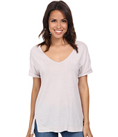 Three Dots - V-Neck Tee w/ Side Slits