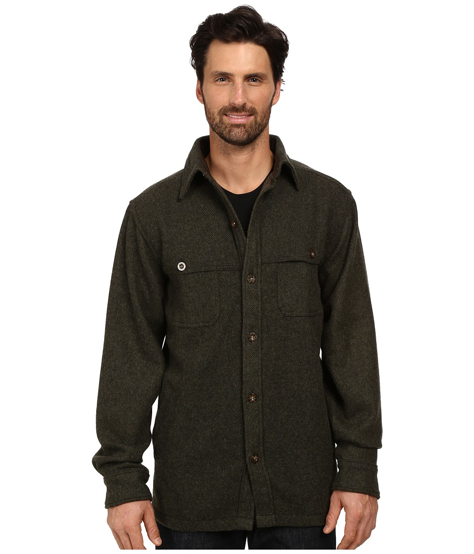 Woolrich Wool Stag Shirt Jacket (Olive) Men's Coat
