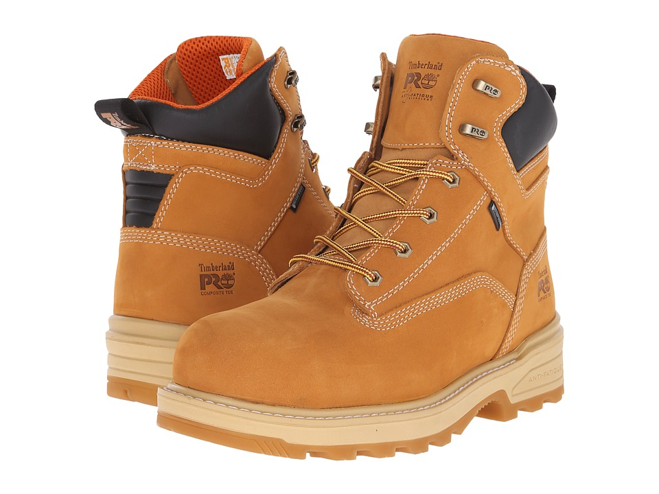 Timberland PRO 6 Resistor Composite Safety Toe Waterproof Insulated Boot (Wheat) Men