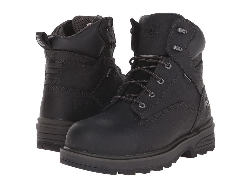 Timberland PRO 6 Resistor Composite Safety Toe Waterproof Boot (Black) Men