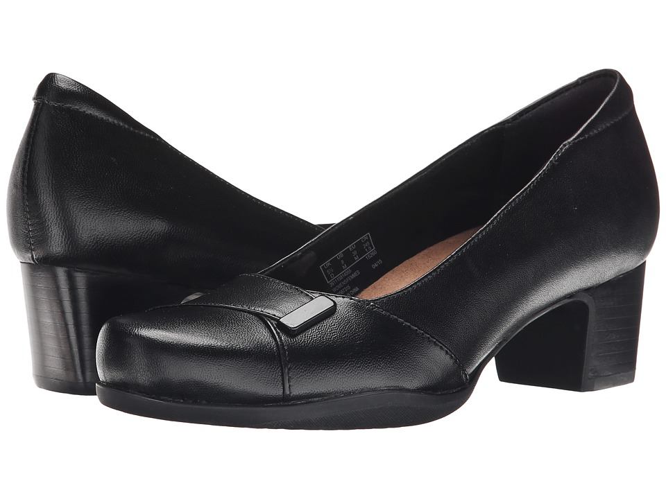 Clarks Rosalyn Belle (Black Leather) High Heels