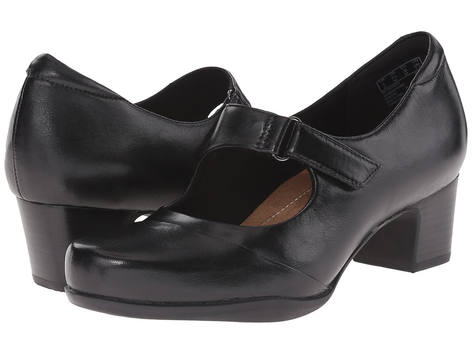 Clarks Rosalyn Wren (Black Leather) High Heels